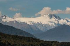 Mount Hooker in New Zealand. Panorama of Mount Hooker in New Zealand Royalty Free Stock Photography