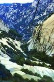Mount Hua ropeway. A ropeway going through the cliffs at the Mount Hua at Hua Shan, China Stock Photo
