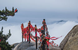 Mount Huang with Fog Stock Photo