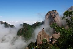 Huangshan (yellow mountain) Royalty Free Stock Images