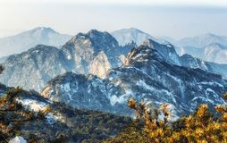 Mount Huangshan  in east China`s Anhui province is one of China`s ten best-known scenic spots. Huangshan, known as `the loveliest mountain of China`, was stock photo
