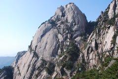 Mount Huangshan scenery. Chinese Mount Huangshan strange stone Stock Image