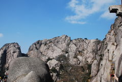 Mount Huangshan scenery. Chinese Mount Huangshan strange stone Stock Photo
