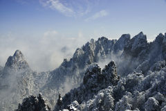 Mount Huangshan snow Royalty Free Stock Photo