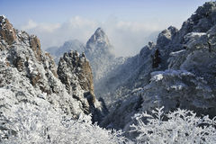 Mount Huangshan snow Stock Photo