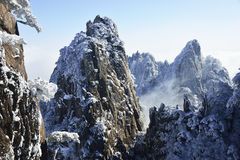 Mount Huangshan snow Royalty Free Stock Photos