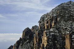 Mount Huangshan snow Stock Image