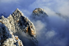 Mount Huangshan snow Stock Photos
