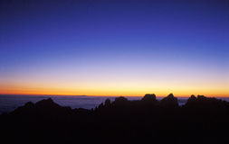Mount Huangshan sunrise 2 Stock Images