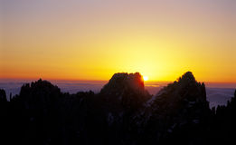 Mount Huangshan sunrise Stock Image