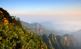 mount huangshan sunrise in July 2007 royalty free stock photo
