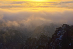 Mount Huangshan sunrise in winter. Anhui,China Stock Images