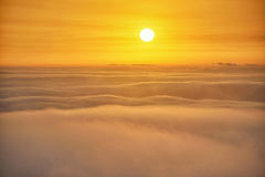Mount Huangshan sunrise in winter Royalty Free Stock Photo