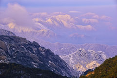 Mount Huangshan sunrise in winter Royalty Free Stock Images