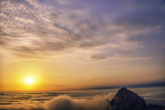 Mount Huangshan sunrise in winter. Anhui,China Stock Photography