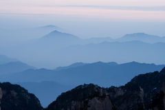 Mount Huangshan sunset Royalty Free Stock Photo