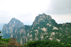 Mount Huangshan Tiandu and lotus peak Stock Photos