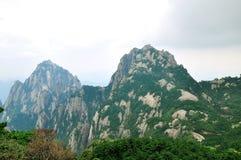 Mount Huangshan Tiandu and lotus peak stock photos