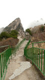Mount huangshan western steps. Mount huangshan near shanghai china asia stock photography