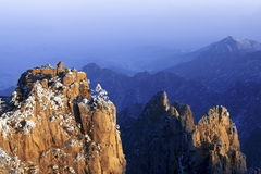 Mount Huangshan in winter Royalty Free Stock Photos