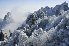 Mount Huangshan in winter Stock Image