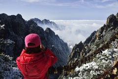 Mount Huangshan in winter Royalty Free Stock Photography