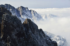 Mount Huangshan in winter Stock Photos