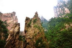 Mount Huangshan Xihai Grand Canyon, incredible china Royalty Free Stock Photos