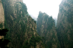 Mount Huangshan Xihai Grand Canyon, incredible china Stock Photo