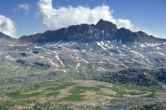 Mount Humphreys and Humphreys Basin In the Sierra Nevada Mountains stock image