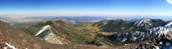 Mount Humphreys panorama. Panorama of the San Francisco Peaks near Flagstaff from the summit of Mount Humphreys Royalty Free Stock Photography