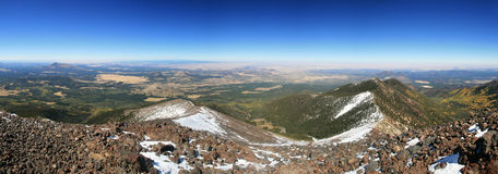 Mount Humphreys panorama. Panorama from the summit of Mount Humphreys, the highest point in Arizona Stock Photo