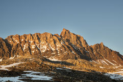 Mount Humphreys. From the west in the evening lit by the last golden light Royalty Free Stock Photos