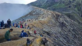Mount Ijen Crater, Bondowoso Region, Indonesia royalty free stock photography