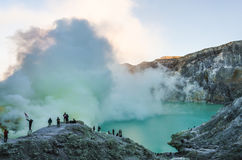Mount Ijen Crater Royalty Free Stock Images