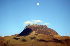 Mount Imbabura Under a Full Moon Stock Photo
