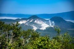 Mount Io-zan, naked mountain, Hokkaido, Japan royalty free stock image