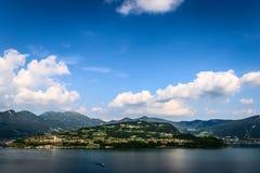 Mount Isola Island, Iseo lake, Brescia, Lombardy, italy Royalty Free Stock Images