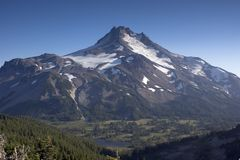 Mount Mt Jefferson Horizontal Cascade Range Oregon Stock Images