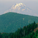 Mount Jefferson awash in wildfire haze, from the summit of Iron Mountain, Willamette National Forest, Cascade Range, Oregon. Wildfires were burning throughout royalty free stock image