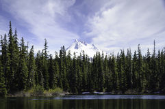 Mount Jefferson From Head Lake, Western Oregon Royalty Free Stock Photography