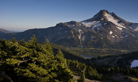 Sunset High Elevation Mount Jefferson Horizontal Royalty Free Stock Photography