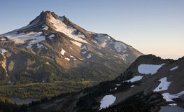 Mount Mt Jefferson Horizontal Cascade Range Oregon Royalty Free Stock Photos