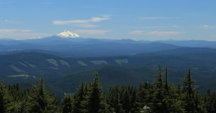 Mount Jefferson scenic view. From Mount Hood. It is the second highest mountain in Oregon State America royalty free stock images