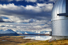 Mount John Observatory, Lake Tekapo, New Zealand Stock Image