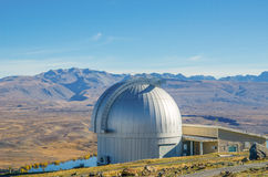 Mount John Observatory near Lake Tekapo Southern Alps mountain valleys New Zealand. Stock Image