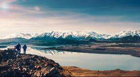 Mount John. The view form mount John in New Zealand Stock Photos