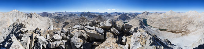 Mount Julius Caesar Summit Panorama Royalty Free Stock Photography