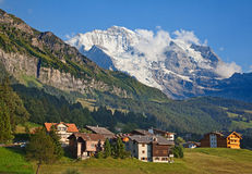 Mount Jungfrau Stock Photography