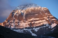 Mount Kailash in Tibet Stock Photography
